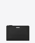 SAINT LAURENT ID SLG U ID Mini Tablet Holder in Black Leather f