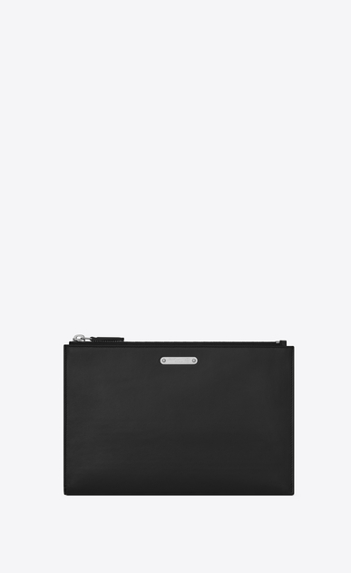 SAINT LAURENT ID SLG U Custodia per tablet ID mini in pelle nera a_V4