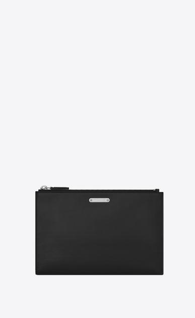 SAINT LAURENT ID SLG U Mini étui pour tablette ID en cuir noir v4