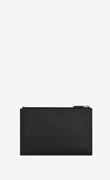 SAINT LAURENT ID SLG U Custodia per tablet ID mini in pelle nera b_V4