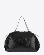 SAINT LAURENT ID bags U Large ID Convertible Bag in Black Moroder Leather f