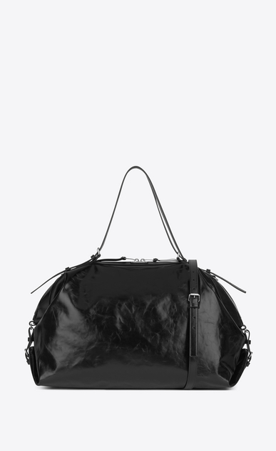 SAINT LAURENT ID bags U Large ID Convertible Bag in Black Moroder Leather a_V4