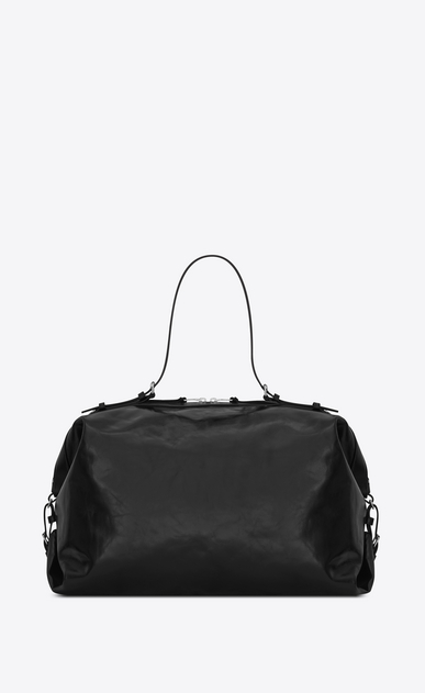 SAINT LAURENT ID bags Man Large ID Convertible Bag in Black Moroder Leather b_V4