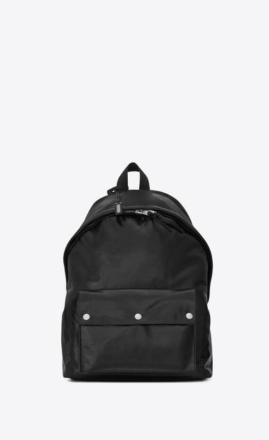 SAINT LAURENT Backpack U Sac à dos militaire CITY en cuir Moroder et nylon noirs v4