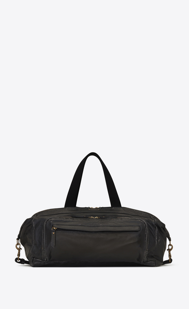SAINT LAURENT ID bags U BIKER Gym Bag in Black Worn Leather a_V4
