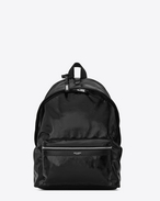SAINT LAURENT Backpack U Zaino CITY nero in vernice f