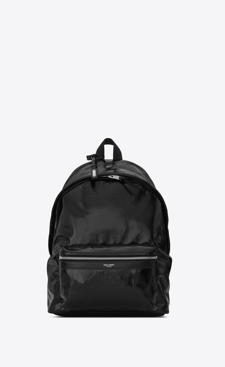 437d92f628 Saint Laurent CITY Backpack In Black Patent Leather