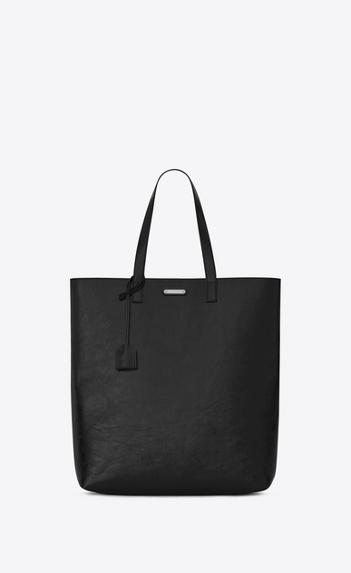 SAINT LAURENT Totes Man BOLD Tote Bag in Black Patent Leather a_V4