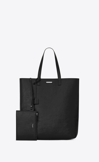 SAINT LAURENT Totes Man BOLD Tote Bag in Black Patent Leather b_V4