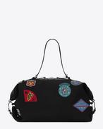 SAINT LAURENT ID bags U ID コンバーチブル バッグ(ラージ/ブラック/キャンバス&マルチカラーパッチ) f