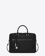 SAINT LAURENT Business U SAC DE JOUR SOUPLE Briefcase in black grained leather f