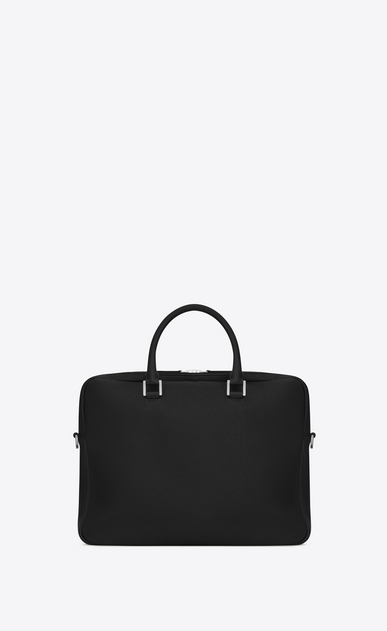 SAINT LAURENT Business U Porte-documents SAC DE JOUR SOUPLE en cuir grainé noir b_V4