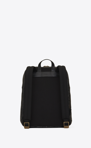 SAINT LAURENT Backpack U BIKER Backpack in Black Worn Leather b_V4