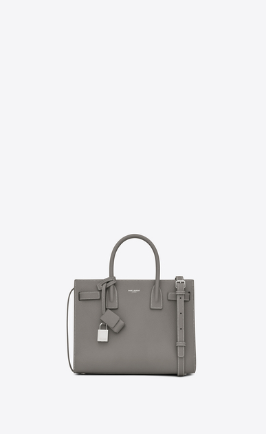 SAINT LAURENT Baby Sac de Jour D classic baby sac de jour bag in pearl grey grained leather a_V4