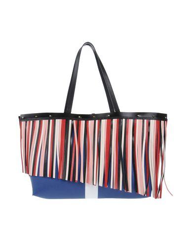 OHMAI レディース ハンドバッグ ブルー 紡績繊維