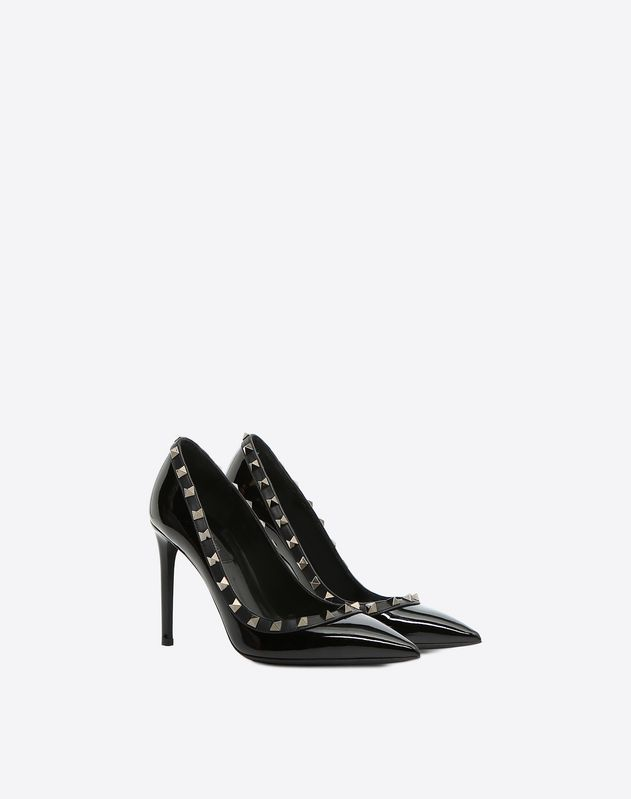 9d490c132 Rockstud Noir patent-leather pump 100 mm