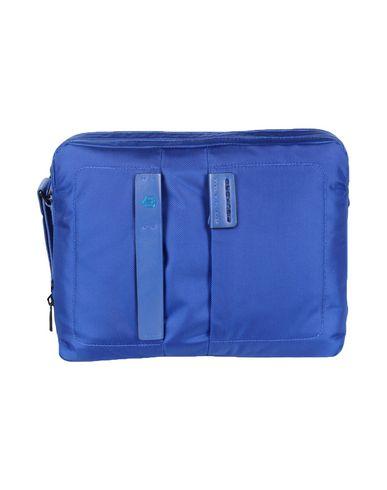 PIQUADRO メンズ ブリーフケース ブルー 紡績繊維 / 革