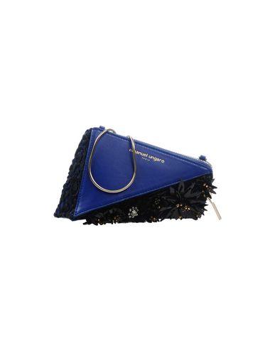 EMANUEL UNGARO レディース ハンドバッグ ダークブルー 革 / 紡績繊維