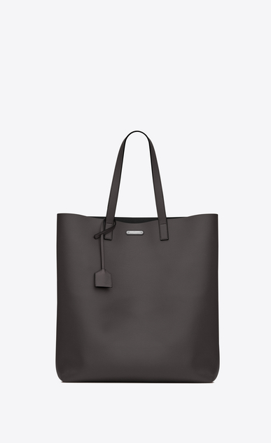 SAINT LAURENT Tote Bag U BOLD shopper-totebag aus dunklem anthrazitfarbenem leder a_V4