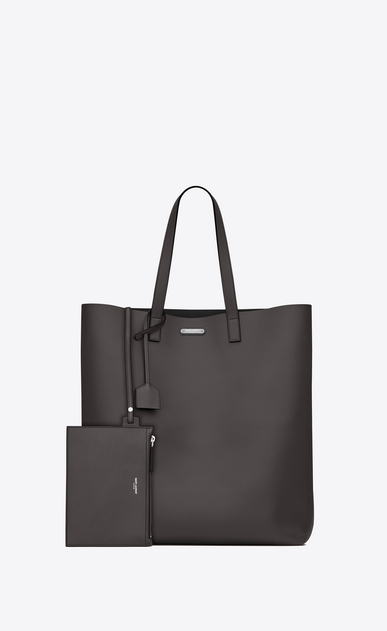 SAINT LAURENT Tote Bag U BOLD shopper-totebag aus dunklem anthrazitfarbenem leder b_V4