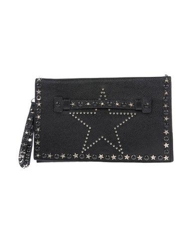 DANIELA FARGION レディース ハンドバッグ ブラック 紡績繊維