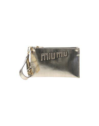 MIU MIU レディース ハンドバッグ プラチナ 革