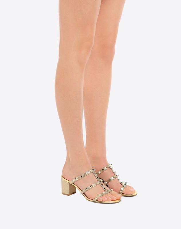 2b889487ede50 Metallic Rockstud Mule Sandal 60mm for Woman   Valentino Online Boutique