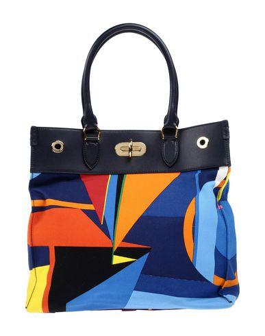RALPH LAUREN レディース ハンドバッグ ブルー 革 / 紡績繊維
