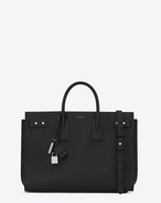SAINT LAURENT Sac de Jour Men U Large Supple SAC DE JOUR Bag in pelle nera f
