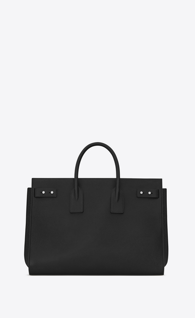 SAINT LAURENT Sac de Jour Men Uomo Large Supple SAC DE JOUR Bag in pelle nera b_V4