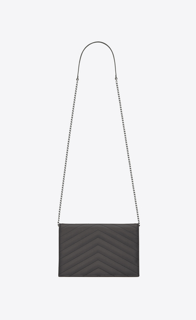 SAINT LAURENT Mini bags Enveloppe Woman envelope chain wallet in earth b_V4