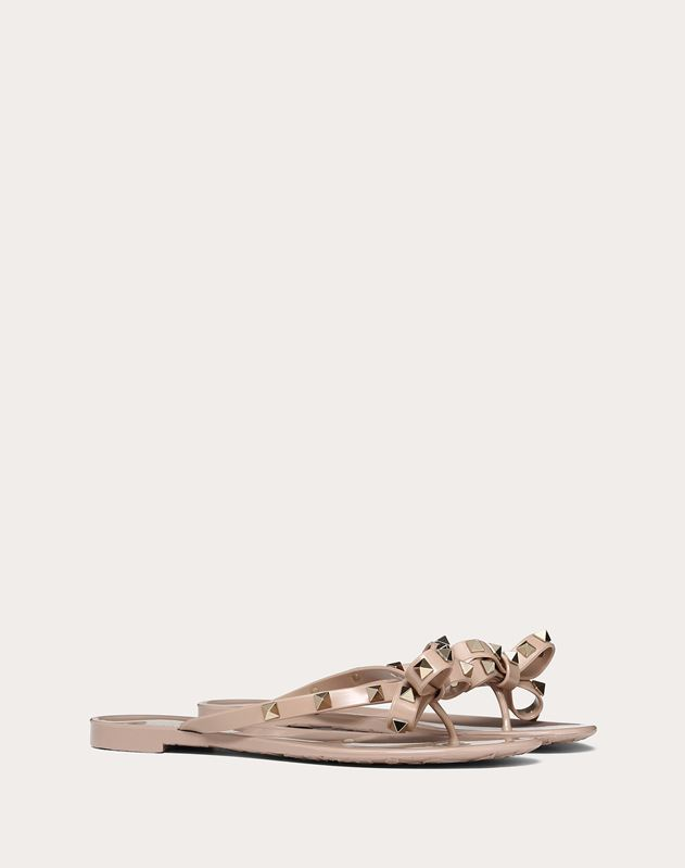 Bow Rockstud Jelly Thong Sandal
