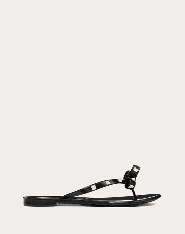 38a69112704 Rubber Rockstud Thong for Woman | Valentino Online Boutique