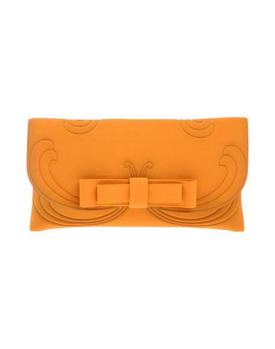 LA FILLE des FLEURS レディース ハンドバッグ オレンジ 紡績繊維