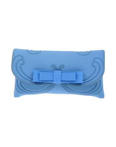 LA FILLE des FLEURS レディース ハンドバッグ アジュールブルー 紡績繊維