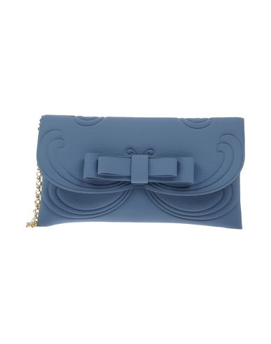 LA FILLE des FLEURS レディース ハンドバッグ ブルーグレー 紡績繊維