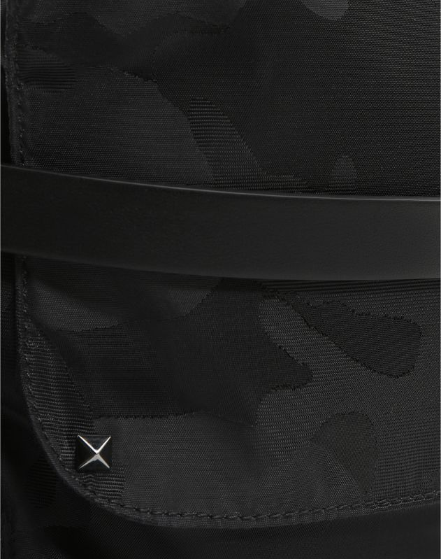 NYLON CAMOUFLAGE NOIR MESSENGER BAG