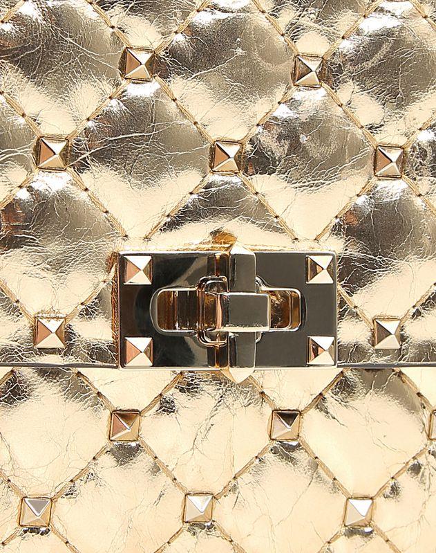 Metallic Spike Chain Clutch