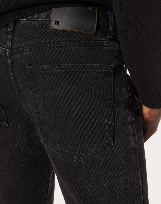 Marble wash 5-pocket jeans