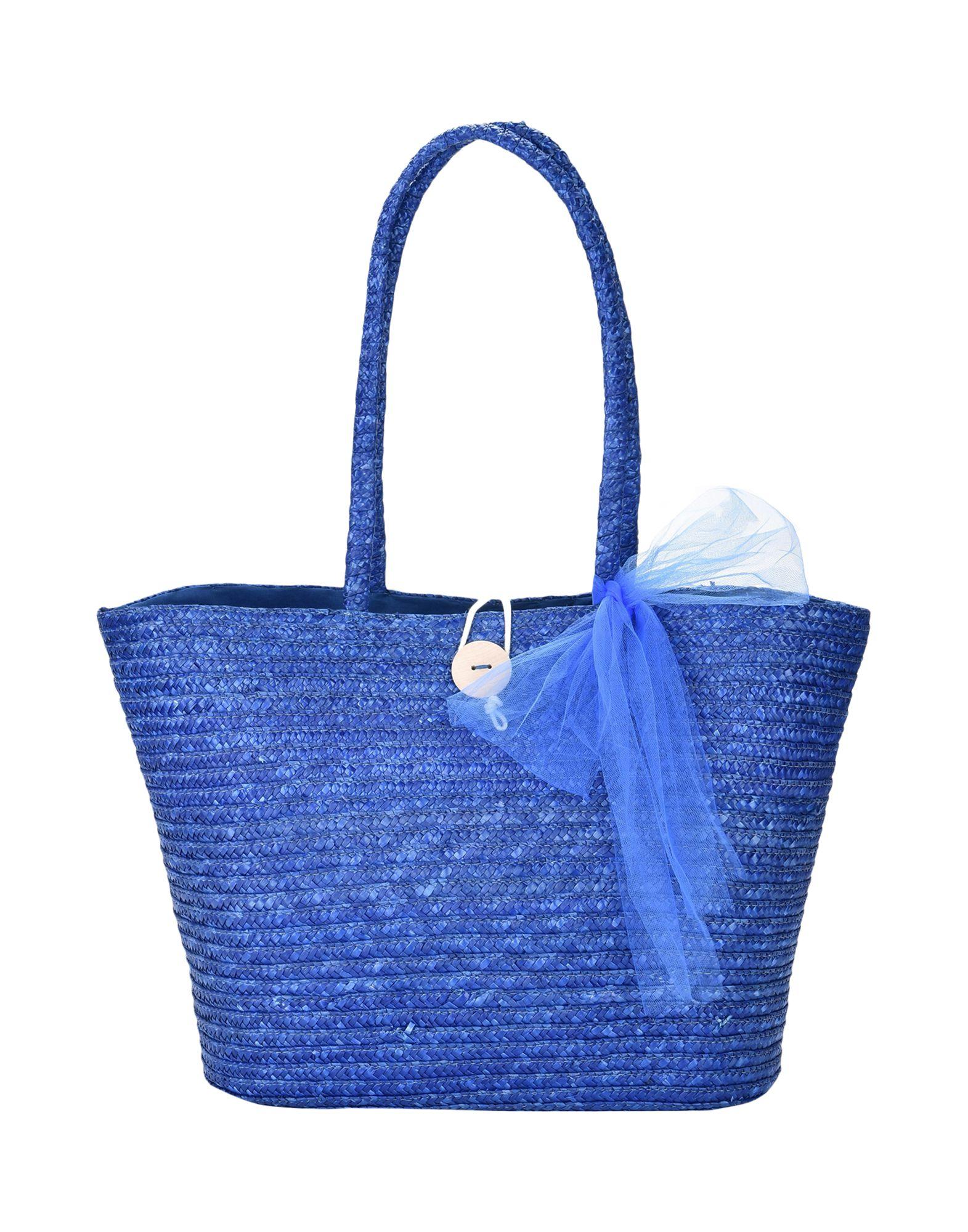 8 Damen Schultertasche Farbe Blau Größe 1