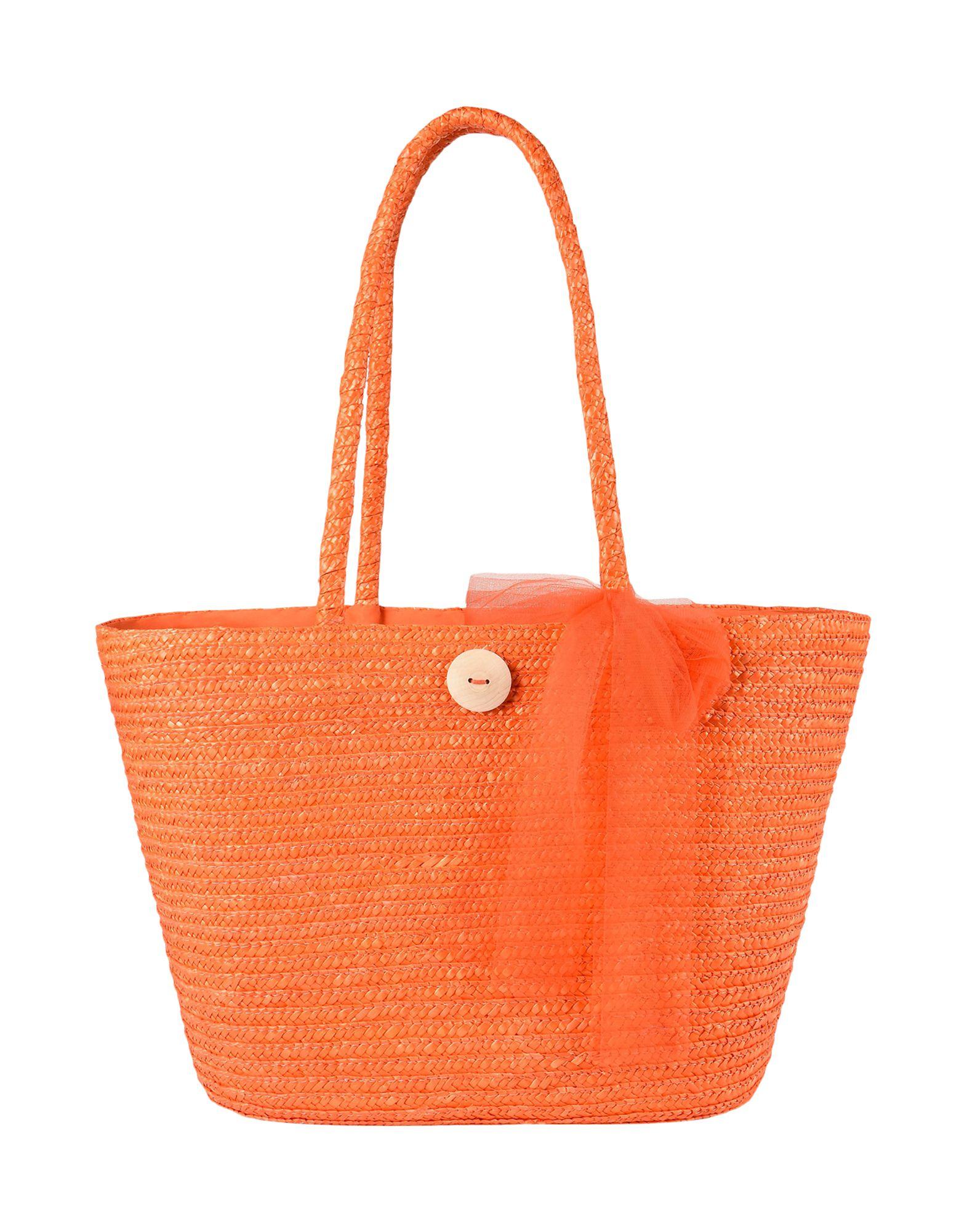 8 Damen Schultertasche Farbe Orange Größe 1