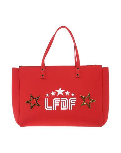 LA FILLE des FLEURS レディース ハンドバッグ レッド ポリエステル 60% / ナイロン 35% / ポリウレタン 5%