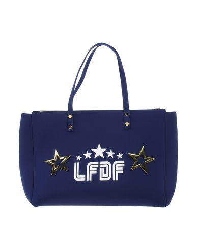 LA FILLE des FLEURS レディース ハンドバッグ ダークブルー ポリエステル 60% / ナイロン 35% / ポリウレタン 5%