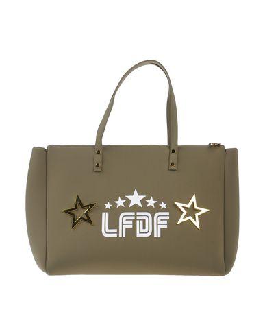 LA FILLE des FLEURS レディース ハンドバッグ ミリタリーグリーン ポリエステル 60% / ナイロン 35% / ポリウレタン 5%