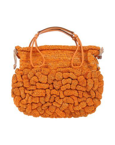 JAMIN PUECH レディース ハンドバッグ オレンジ ラフィア 80% / 柔らかめの牛革 15% / コットン 5%