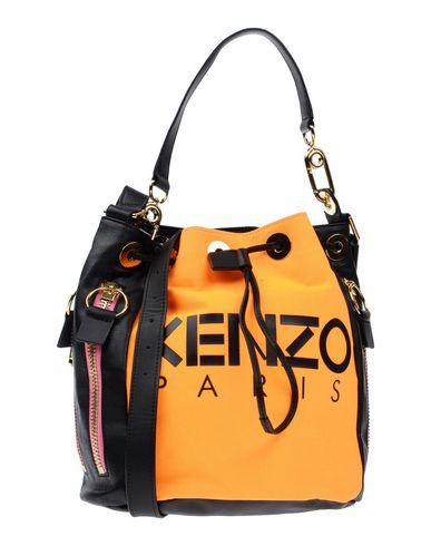 KENZO レディース ハンドバッグ オレンジ 柔らかめの牛革 / コットン