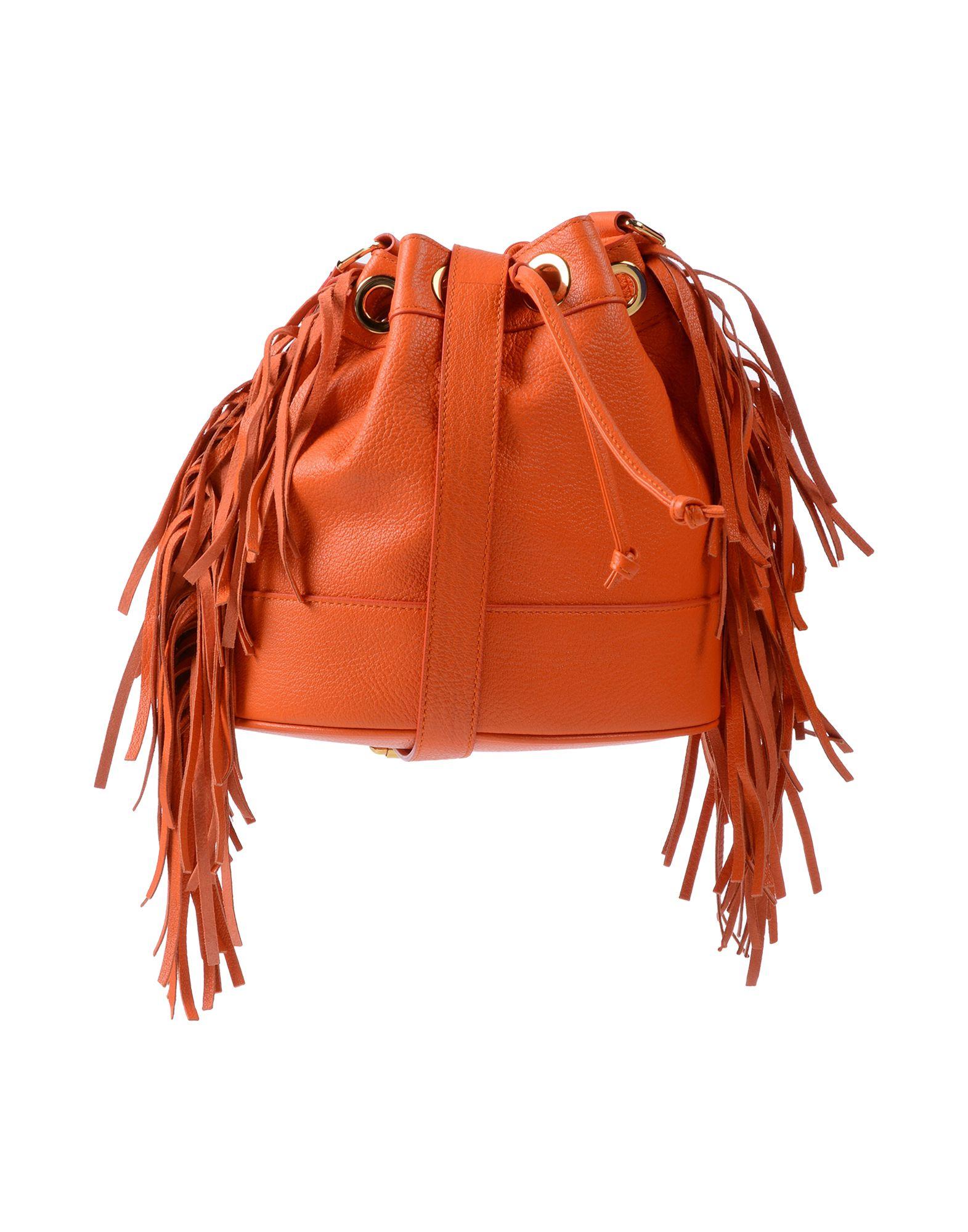 《送料無料》BOUTIQUE MOSCHINO レディース ハンドバッグ オレンジ 革
