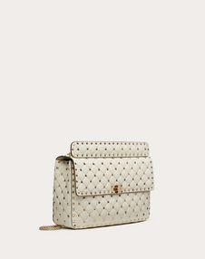 Large Rockstud Spike Nappa Leather Bag