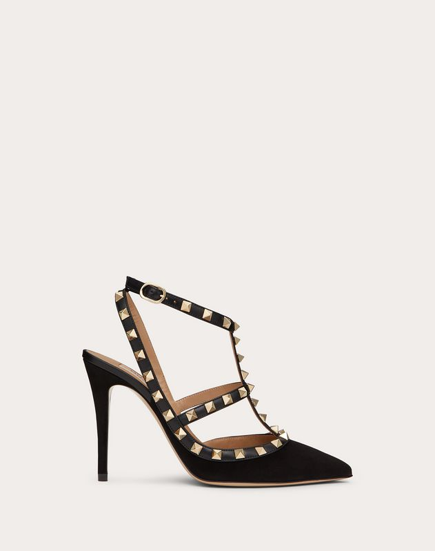 Suede Cage Rockstud Pump 100mm