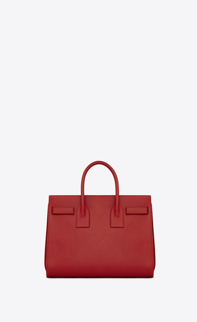SAINT LAURENT Sac De Jour Small D classic small sac de jour bag in lipstick red leather b_V4